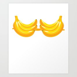 Banana Bra Funny Lazy Costume Brassiere Halloween Art Print