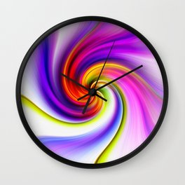 Tulip Twirl Wall Clock