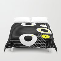 cosmos Duvet Covers featuring Cosmos by Omar VP