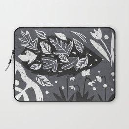 Hedgehog in Autumn Woods - Gray Palette Laptop Sleeve