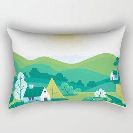 Landscape village Rectangular Pillow
