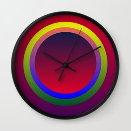 Color Shades by MRT Wall Clock