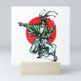 Ink samurai Mini Art Print