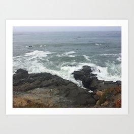 sea at cambria Art Print
