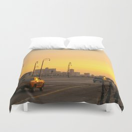 Sunset in La Habana Duvet Cover
