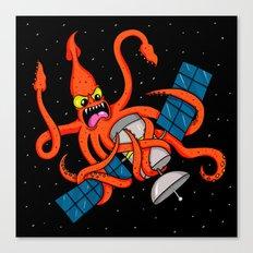 Squid vs Satellite Canvas Print