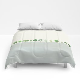A Row Of Trees Comforters