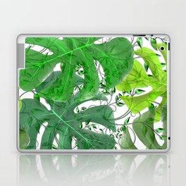 PALM LEAF B0UNTY GREEN AND WHITE Laptop & iPad Skin