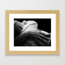 Bocca nel Cuore Framed Art Print
