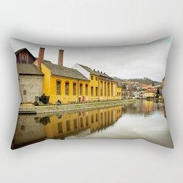 Motorcycle Reflection Rectangular Pillow
