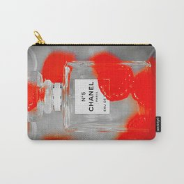 No 5 Red Splash Carry-All Pouch