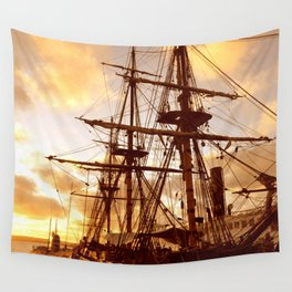 PIRATE SHIP :) Wall Tapestry