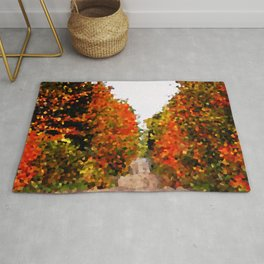 Crystalized Fall Forest Rug