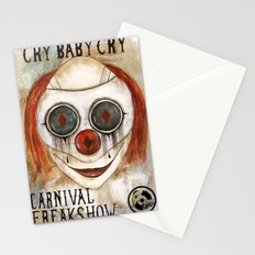 Cry Baby Clown Stationery Cards