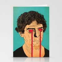 lou reed Stationery Cards featuring You, Me and Lou Reed by Roland Lefox