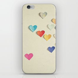 Paper Hearts iPhone Skin