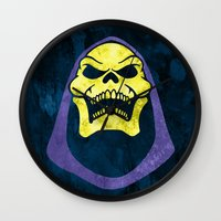 skeletor Wall Clocks featuring Skeletor by Some_Designs