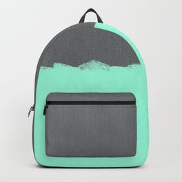 Mint Paint on Concrete Backpack