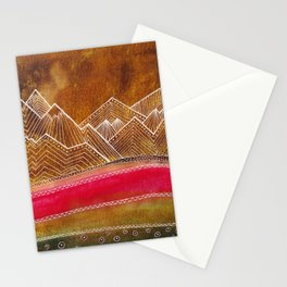 Lines in the mountains 01 Stationery Cards