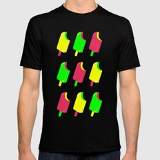 Popsicles Black MEDIUM Mens Fitted Tee