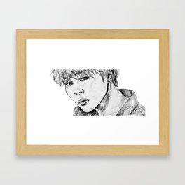 BTS JIMIN Framed Art Print