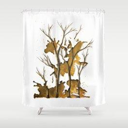 De Oro como Sangrado Estelar Shower Curtain