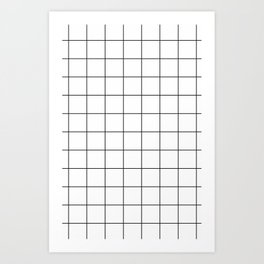 The Grid - White Art Print