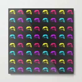 Graphic Skulls in Color II Metal Print