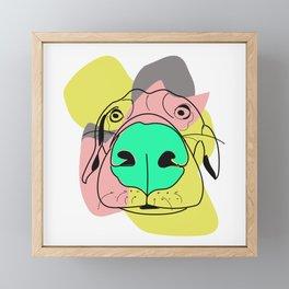 Retro Dog Framed Mini Art Print