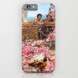 Lawrence Alma-Tadema - The Roses Of Heliogabalus - Digital Remastered Edition iPhone Case