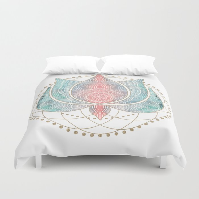Yoga Lotus Duvet Cover