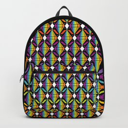 Abstract [RAINBOW] Emeralds pattern Backpack