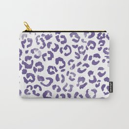Modern hand painted leopard purple ultra violet watercolor pattern Carry-All Pouch