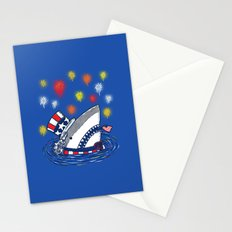 The Patriotic Shark Stationery Cards