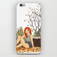 lydia martin iPhone & iPod Skins featuring Lydia Martin, Autumn by strangehats