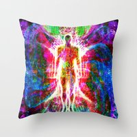 "matrix Throw Pillows featuring ""The matrix "" by shiva camille"