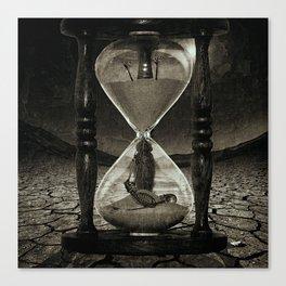 Sands of Time ... Memento Mori - Monochrome Canvas Print