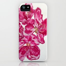 Wild Pink Floral Watercolour iPhone Case