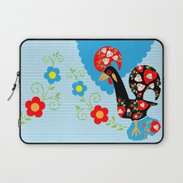 Portuguese Rooster of Luck with blue dots Laptop Sleeve
