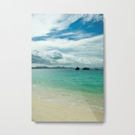 Motobu Seaside Metal Print