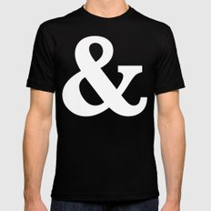 Ampersand Black Mens Fitted Tee MEDIUM