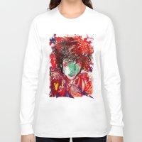 bob dylan Long Sleeve T-shirts featuring Bob Dylan by Irmak Akcadogan