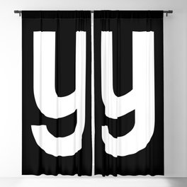 letter Y (White & Black) Blackout Curtain