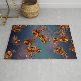 Under the sea: a jelly fishes' party 2.0 Rug