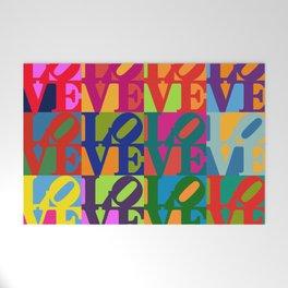 Love Pop Art Welcome Mat