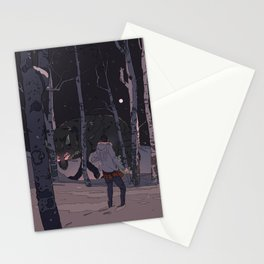 Kitsune at Night Stationery Cards