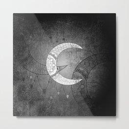The moon, mandala design Metal Print