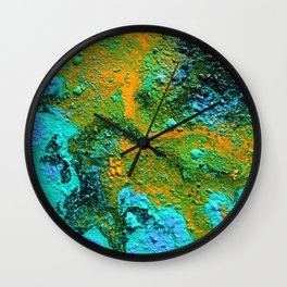 Hawaiian Kilauea Lava Wall Clock