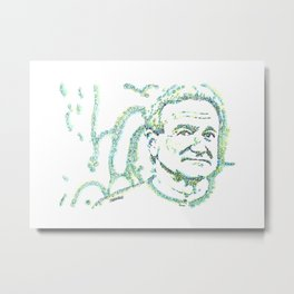 Likeness of Robin Williams Metal Print