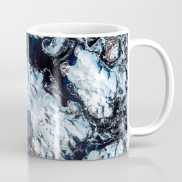 Northern Namibia known for its widespread bare and sinuous parallel dunes most of them red Coffee Mug